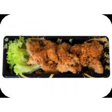 Frittiertes Hähnchenfleisch mit Honig-Chilisauce (Liefer.)