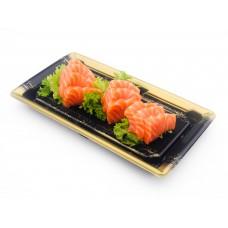 Lachs Sashimi (10 Stück). (Lief.)