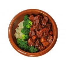 Curry Rindfleisch auf Reis (Lief.)